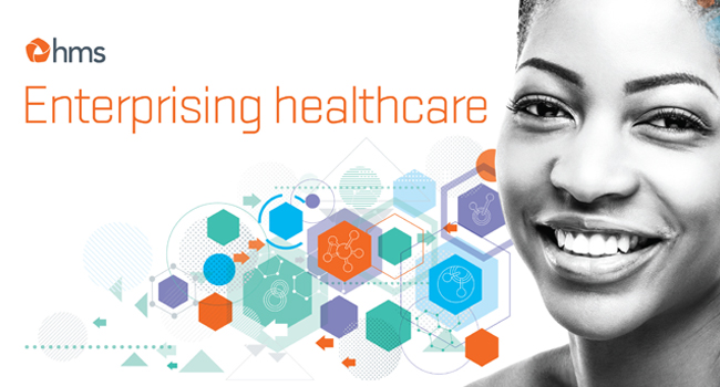 HMS logo with tagline - Enterprising healthcare