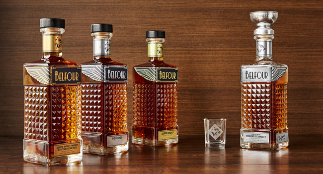 Belfour Whiskey and Bourbon Bottles